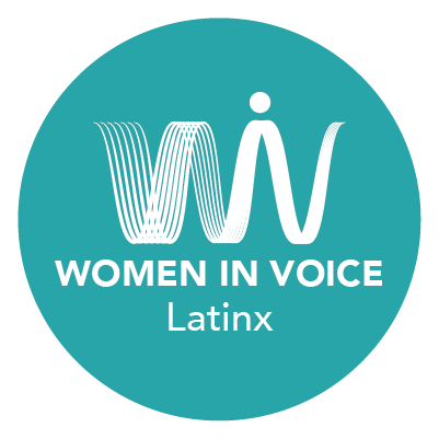 Women in Voice Latinx Logo