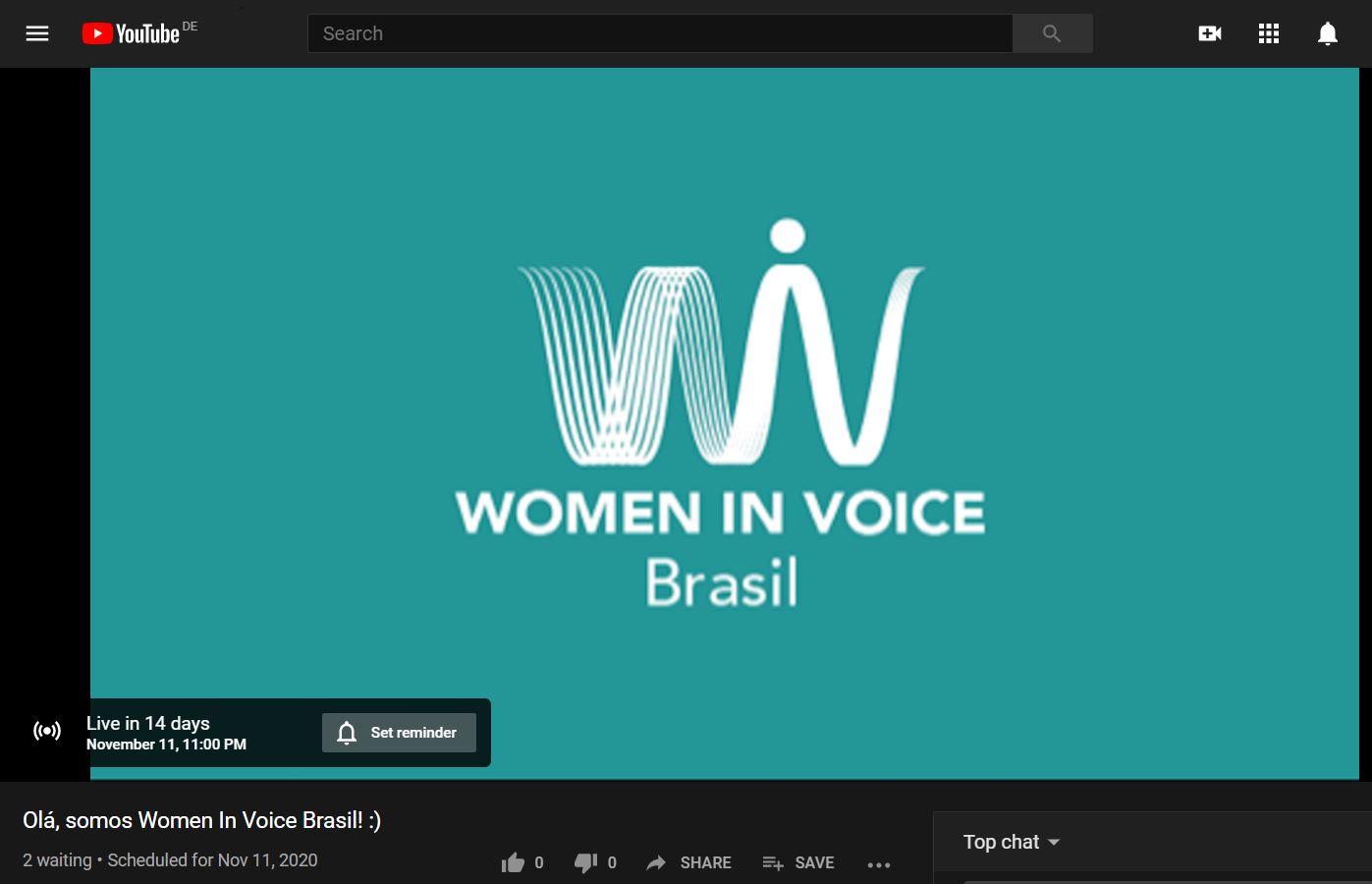 WiV-Brazil Event 11th Nov