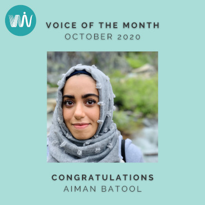 WiV Voice of the Month: Aiman Batool