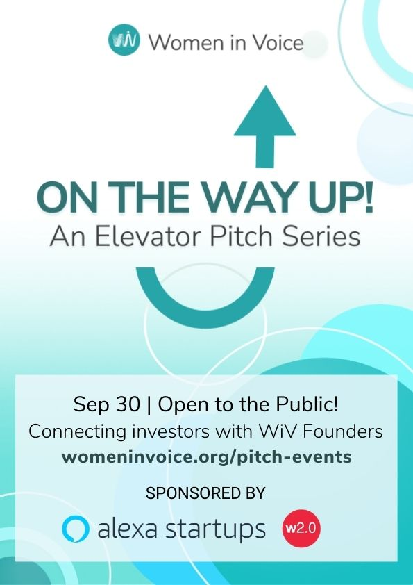 September 30 - On The Way Up: An Elevator Pitch Series sponsored by Alexa Startups & Women 2.0