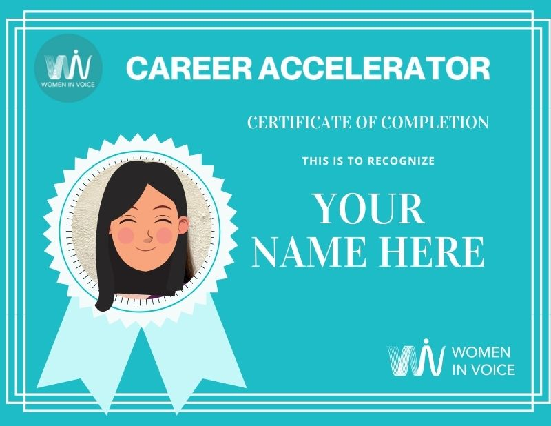 WiV Career Accelerator Certificate