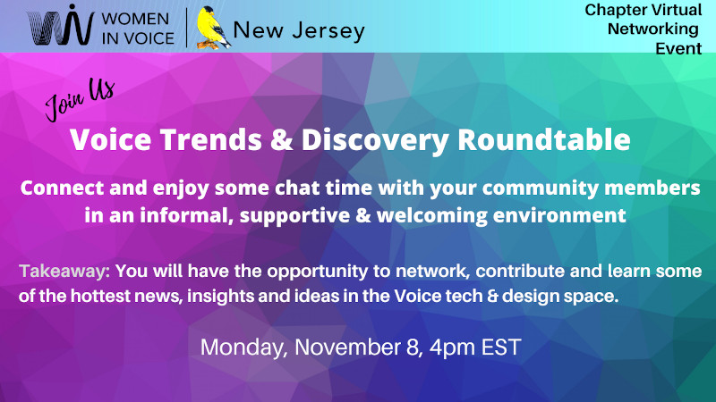 WiV NJ Event on voice trends discovery